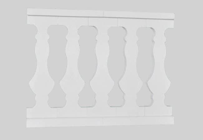 Balaustre plano de piedra prensada imagen pieza 1