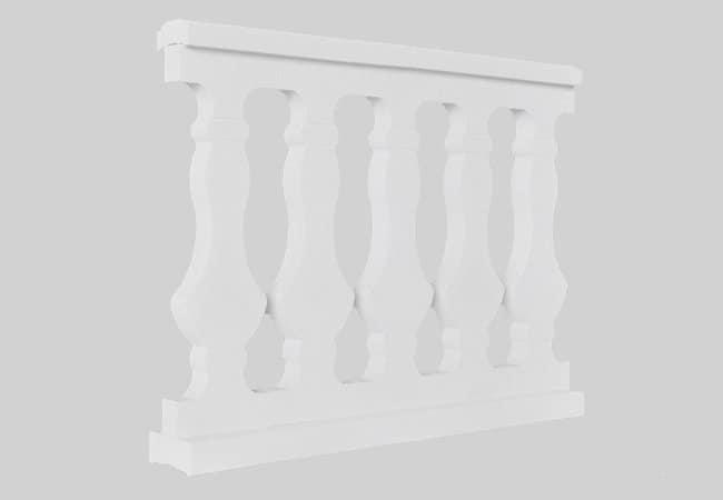 Balaustre plano de piedra prensada imagen pieza 2