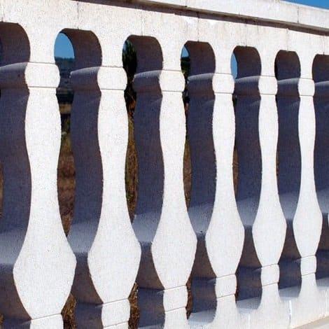 balaustrada de piedra prensada ambiente modelo plano