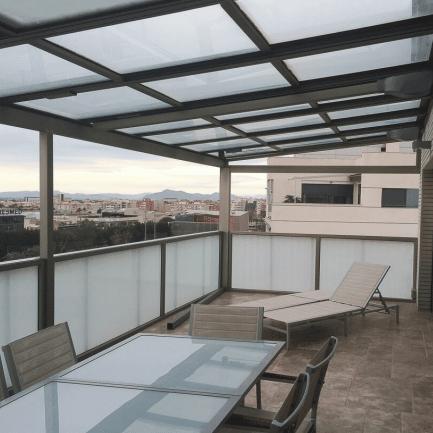placas y paneles ambiente terraza