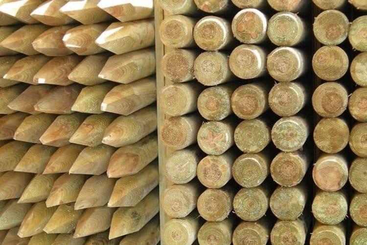 poste de madera tratada en autoclave 4